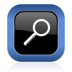 search square glossy icon