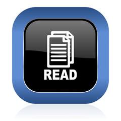 read square glossy icon