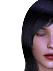 Brunette woman, close-up