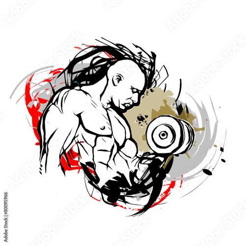 Fototapeta bodybuilder illustration