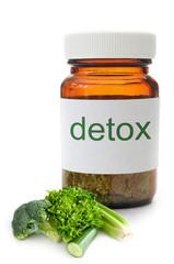 Detox pill jar concept