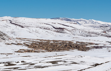 Agoudal, the highest village in Morocco, Africa