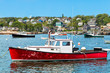 Lobster boat in the harbor, Maine, USA - 80097123