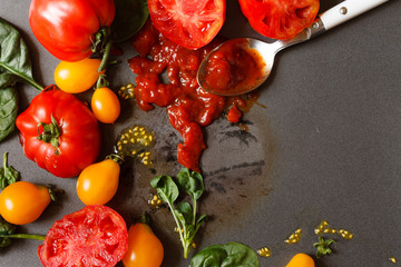 fresh tomatoes with sauce