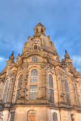 Frauenkirche Dresden am frühen Abend