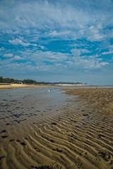 marée basse sur la plage