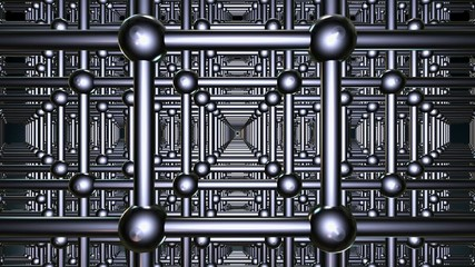 Abstract grid in metal color