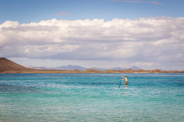 Lone Paddleboarder