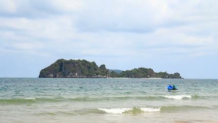 island on tropical sea