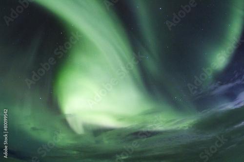 Plexiglas Poolcirkel Islanda: l'aurora boreale, la luce