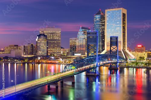 Keuken foto achterwand Verenigde Staten Jacksonville, Florida Skyline
