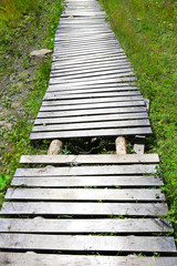 wooden footpath from boards