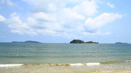 beach on tropical sea