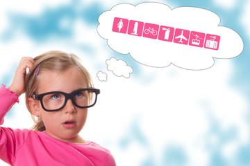Kind mit Fragen