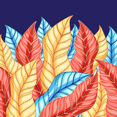 colorful background of leaves