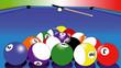 Постер, плакат: Balls of Billiards