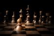 Chess. White pawn against all black. - 80102336