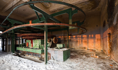 Abandoned gondola station