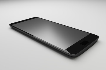 3d Black Smartphone