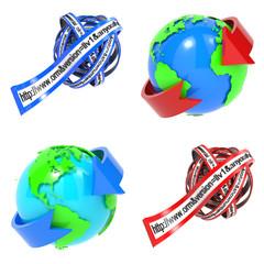 Web Browser Concept - Set of 3D Illustrations.