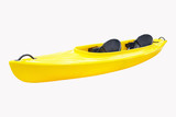 Kayak under the white background