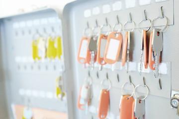 Key storage metal box, many keys hang