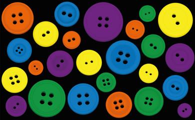 Buttons Colors Black Background
