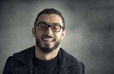 Happy man smiling.