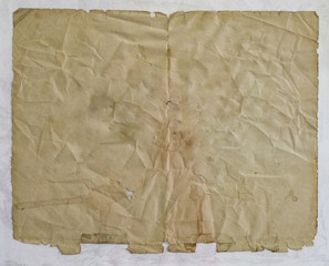 old paper sheet torned .