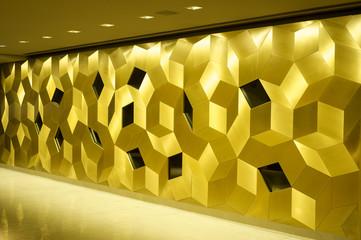 golden mosaic interior.