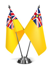 Niue - Miniature Flags.