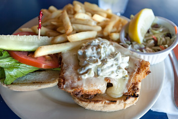 Fried Fish Sandwich Platter