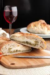 Italian Stromboli Stuffed Bread
