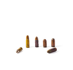bullets on a white background
