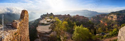 Leinwandbild Motiv Siurana village in the province of Tarragona, Spain