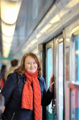 Woman in Parisian metro