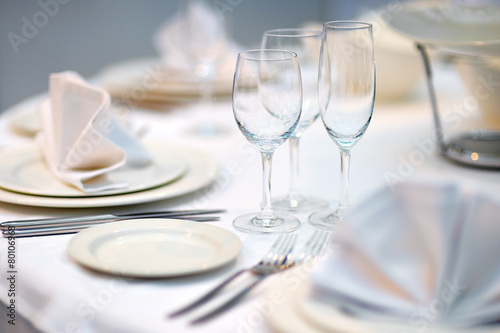 Foto op Aluminium Boord Table set for dinner or reception