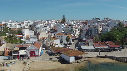 Aerial from Alvor in Portugal
