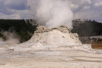 Steam Eruption in a Geyser