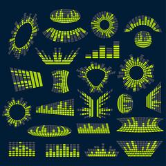 Set of digital music  equalizer vector design elements