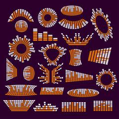 Set of music range equalizer vector design elements
