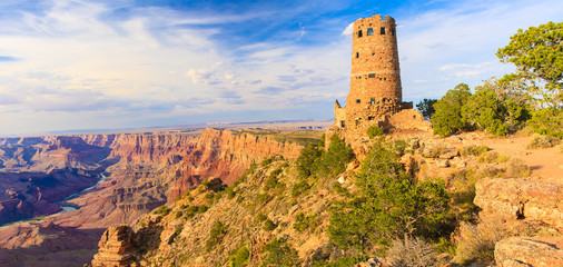 Panorama of the Indian Watchtower at Desert View Point
