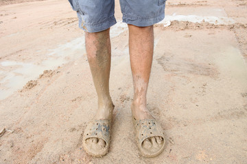 mired in the mud