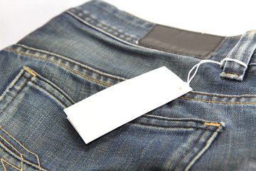Price tag of jeans