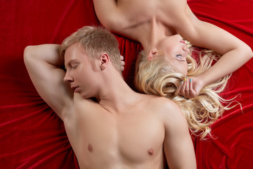 Crisis in relationship. Frustrated young lovers