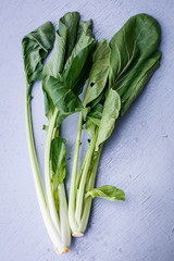 Pak choi on the table