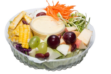 Fruit Salad isolate on white