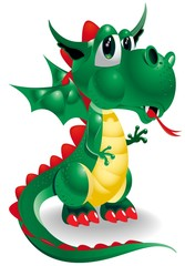 cartoon dragon sad