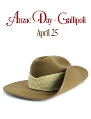 Australian ANZAC army soldier slouch hat
