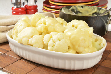 Cauliflower and hollandaise sauce